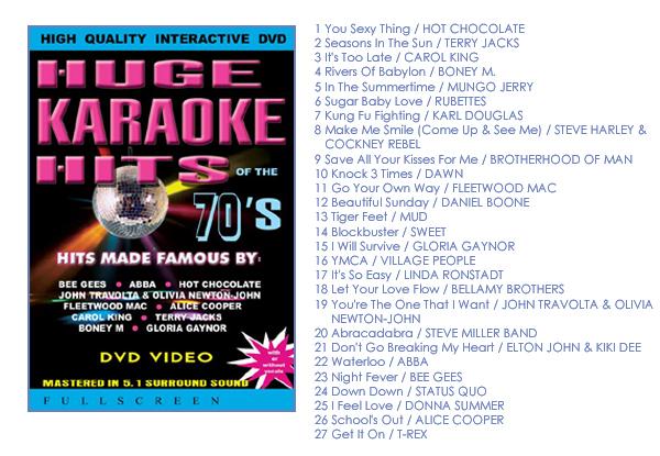 Karaoke Hits of the 70's