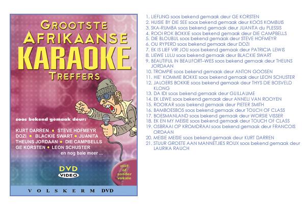 GROOTSTE AFRIKAANSE KARAOKE TREFFERS VOL. 1